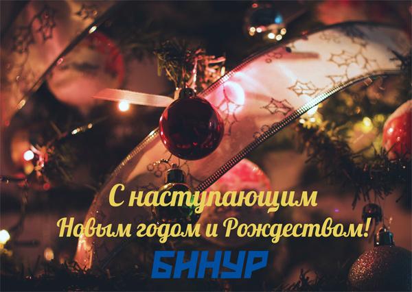 ООО Бинур поздравляет с наступающим Новым 2017 годом и Рождеством!
